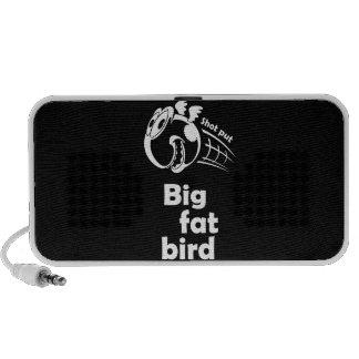 Big fat shot put bird iPod speaker
