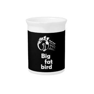 Big fat shot put bird pitcher