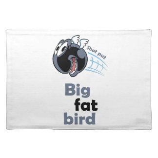 Big fat shot put bird placemat