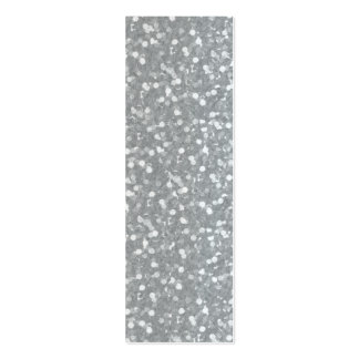 Big Faux Glitter Shiny Sparkles Silver White Color Pack Of Skinny Business Cards