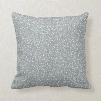 Big Faux Glitter Shiny Sparkles Silver White Color Throw Cushion