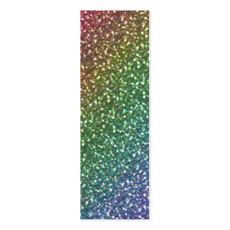 Big Faux Glitter Sparkles Shiny Rainbow Color Pack Of Skinny Business Cards