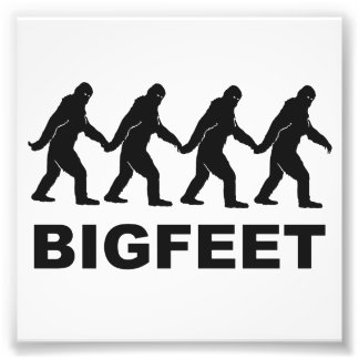 Big Feet Bigfoot Photographic Print