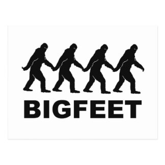 Big Feet Bigfoot Postcard