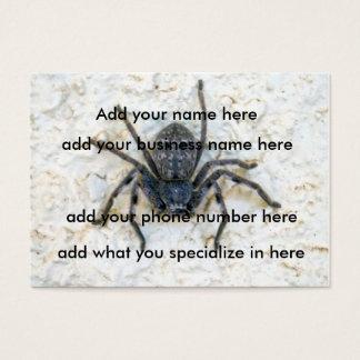 Big  Female Huntsman Spider, Business Card