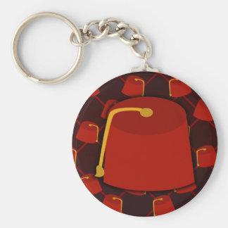 Big Fez Little Fez Basic Round Button Key Ring