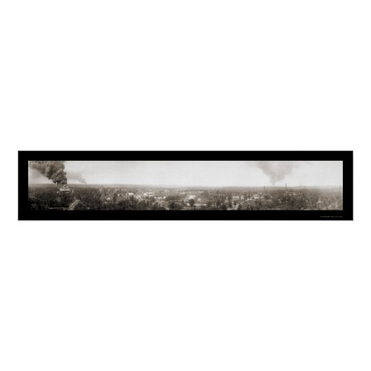 Big Fire Drumright OK Photo 1914 Poster
