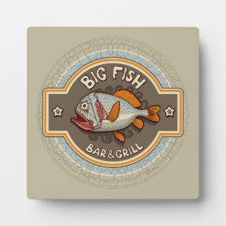 Big Fish Bar And Grill Poster Plaque