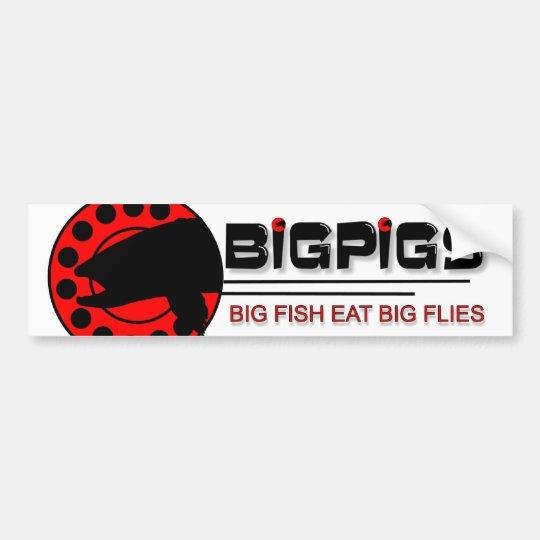 Big Fish Eat Big Flies Bumper Sticker
