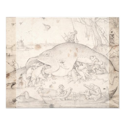 Big Fish Eat Little Fish by Pieter Bruegel Personalized Flyer