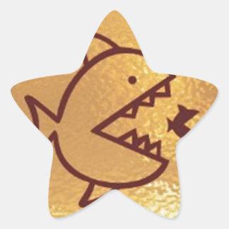 BIG fish eat  SMALL FISH Star Sticker