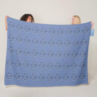 Big Fish Little Fish Fleece Blanket