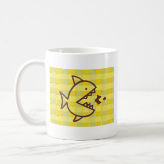 Big Fish Small Fish -  Cut Throat Competition Classic White Coffee Mug