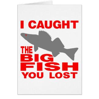 BIG FISH WALLEYE GREETING CARD