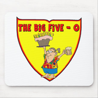 Big Five O 50th Birthday Gifts Mouse Pad