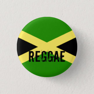 big flag, REGGAE 3 Cm Round Badge