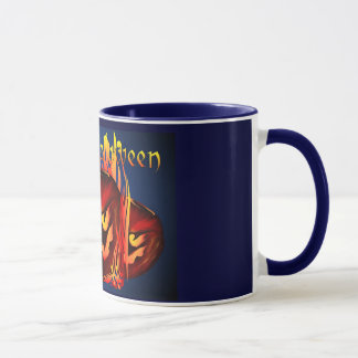 Big Flaming Pumpkin Mugs