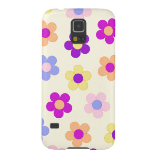 Big Flower Power Design – Yellow Background Cases For Galaxy S5