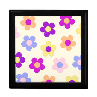 Big Flower Power Design – Yellow Background Gift Box
