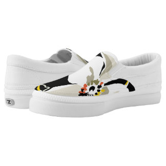 Big Flower Slip On Zipz Sneakers
