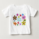 Big Flowers Baby Sister Children's Clothing T-shirts