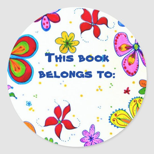 Big Flowers Book ID Stickers