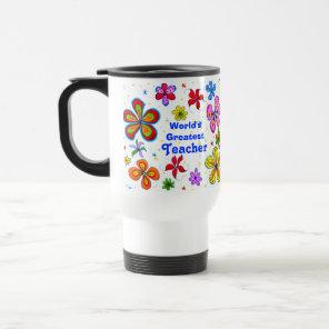 Big Flowers, World's Greatest Teacher Template Mug