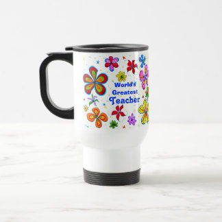 Big Flowers, World's Greatest Teacher Template Mug