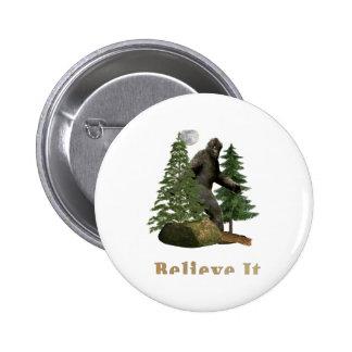 Big foot 6 cm round badge