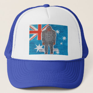 Big foot A, Australian flag. Trucker Hat