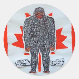 Big foot A, Canada flag Classic Round Sticker