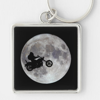 Big foot, big bike and a big bright moon key ring