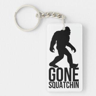 Big foot gone squatchin Double-Sided rectangular acrylic key ring