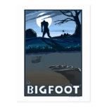 Big Foot walking through Golf Course Postcards