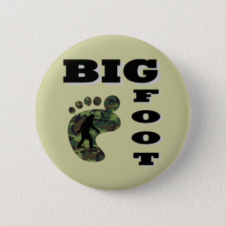 Big foot with foot logo 6 cm round badge