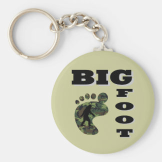 Big foot with foot logo key ring