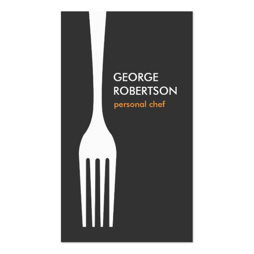 BIG FORK LOGO for Chef, Catering, Restaurant, Food Business Card Template
