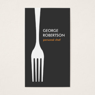 BIG FORK LOGO for Chef, Catering, Restaurant, Food Business Card