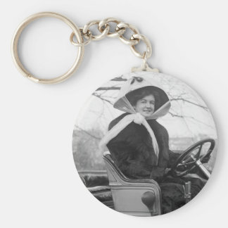 Big Fur Coat, early 1900s Basic Round Button Key Ring