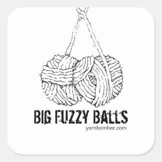 Big Fuzzy Balls Stickers