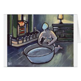 BIG GEORDIES BATH NIGHT GREETING CARD