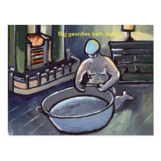 (BIG GEORDIES BATH NIGHT) POSTCARD