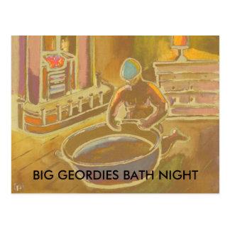 BIG GEORDIES BATH NIGHT POSTCARD