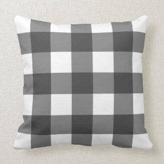 Big Gingham Pattern – Monochrome Cushion