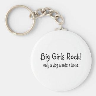 Big Girls Rock Basic Round Button Key Ring