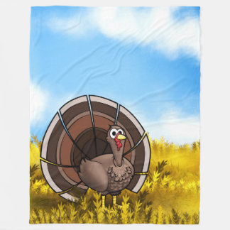 Big Gobble Gobble Gobble! Fleece Blanket