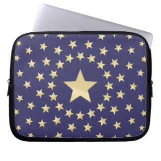 Big Golden Star circled by smaller stars Laptop Computer Sleeves