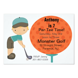 Big Golf Ball Boys Party Invitation
