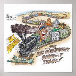 Big Gov Train Print