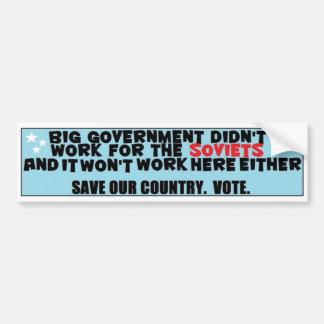 Big government car bumper sticker